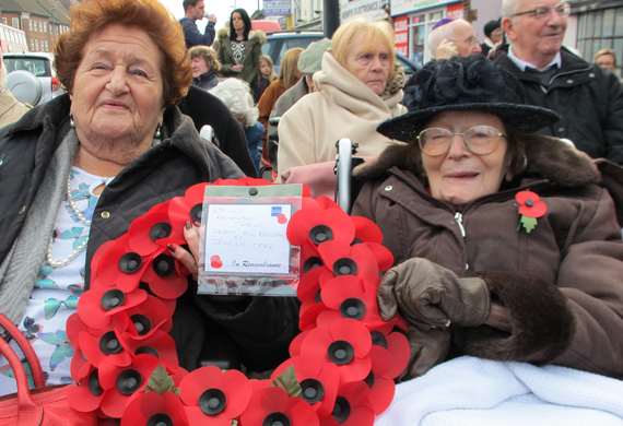 Nettie rolnick and doris lachter remembrance sunday 2014 thumb listing