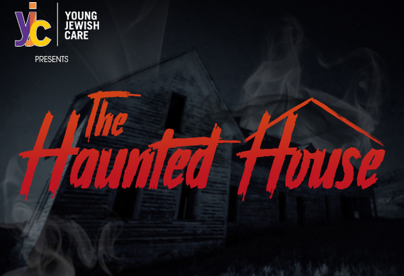 Haunted house email header listing
