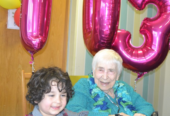 Ethel fedor 103 with great grandson alfie levitt  3 listing