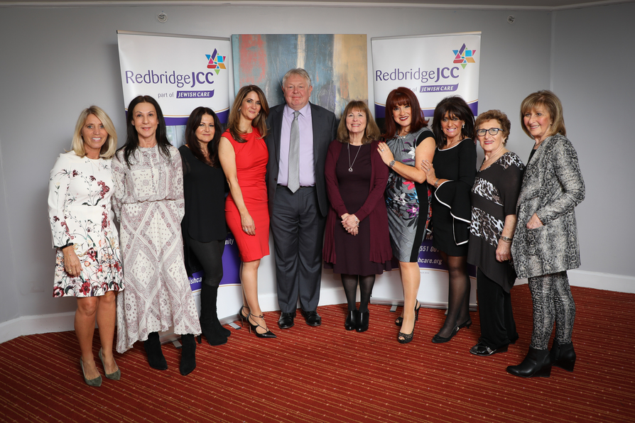 The Local Angels committee poses with Nick Ferrari who spoke at the event.