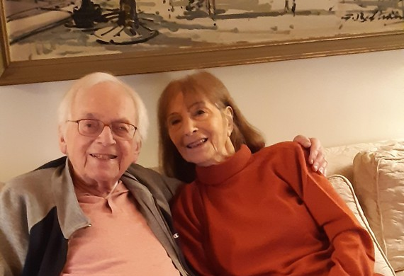 Freddie and freda knoller in december 2020 celebrating their 70th wedding anniversary listing